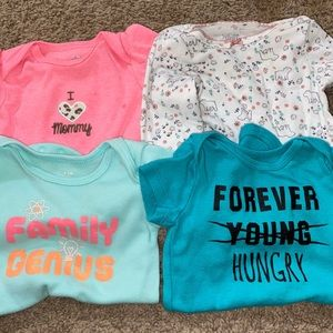 Other - 4/10 SALE Baby Girl Onesie/shirt bundle 0-3/3month